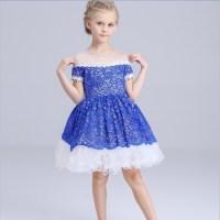 New high quality girls summer dresses 2016 kids Evening