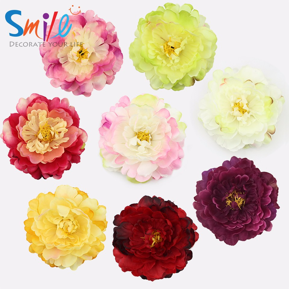 11cm Artificial Peony Head Artificial Silk Flowers Headswedding
