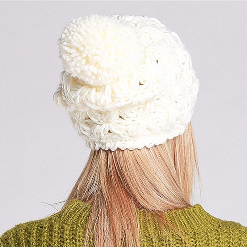 608f067851dd ... votre bonnet est fait pour adulte ou enfant. Click here!! BomHCS Mode  Simple Main Tricoté Chapeau D. beanie cap, baby ...