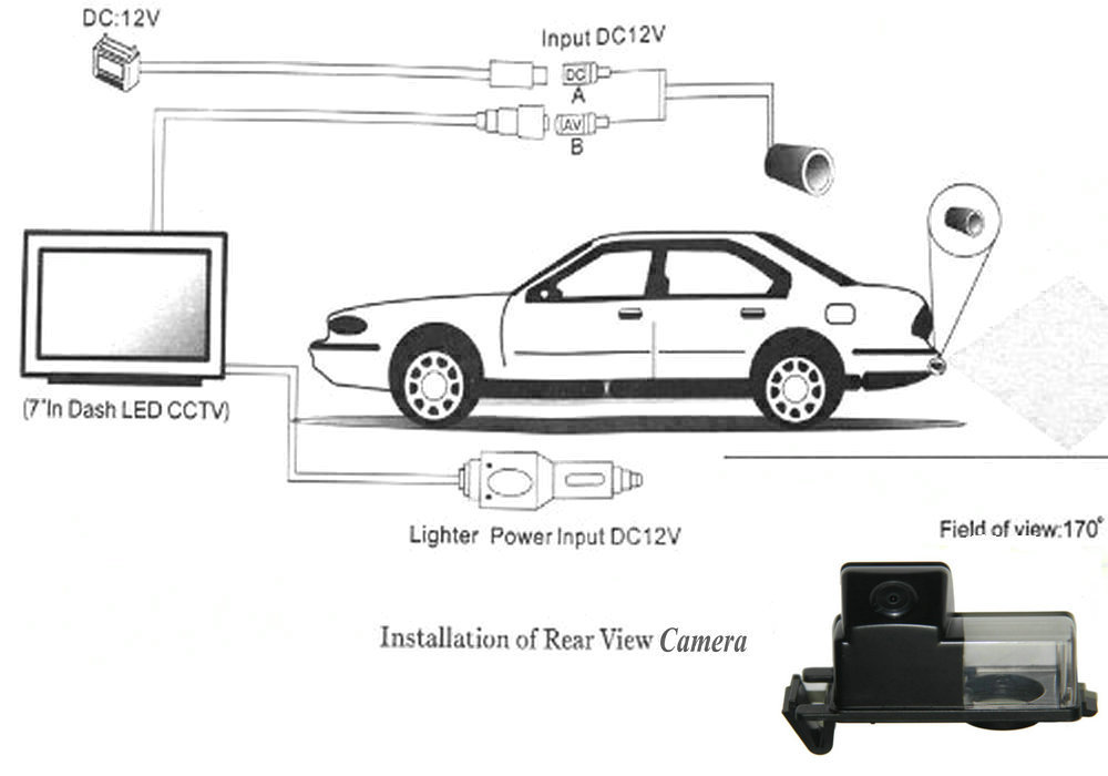 CCD Car Rear View Reverse Camera + Rear view Mirror