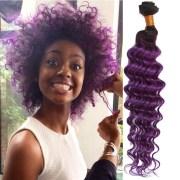 3 bundles purple brazilian deep