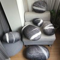Stephanie Marin Design Drak Grey Living Stone Pillow ...