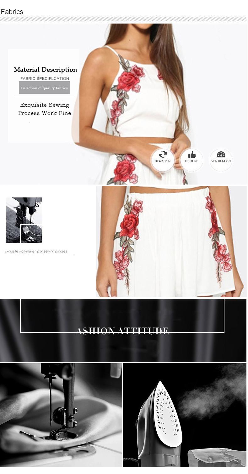 ᗔflower Embroidery Suede Bodycon Dress Suit Vintage Two Piece Suit