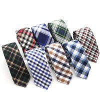 Mens-Cotton-Tie-Plaid-Skinny-Ties-Retro-Cotton-Narrow-Tie ...