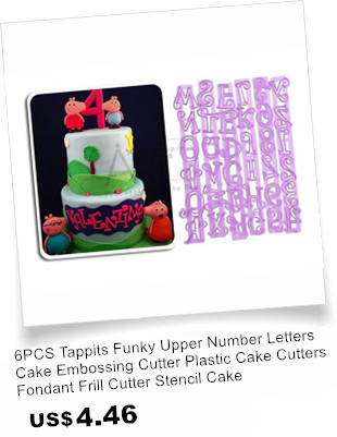 Alphabet Numbers Mold Cookie Cutter Set Baking Fondant Biscuit Letters Cake For Decorating Tools