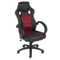 high back race car style bucket seat office desk chair ...