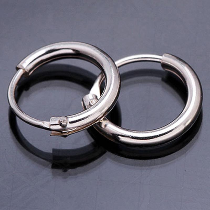 stud earrings 925 Sterling Silver earring Hinged Sleeper