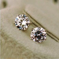 Guy Fake Diamond Stud Earrings Diamond Earrings Macy S
