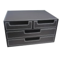Aliexpress.com : Buy 4 Drawer Black Leather Office Filing ...