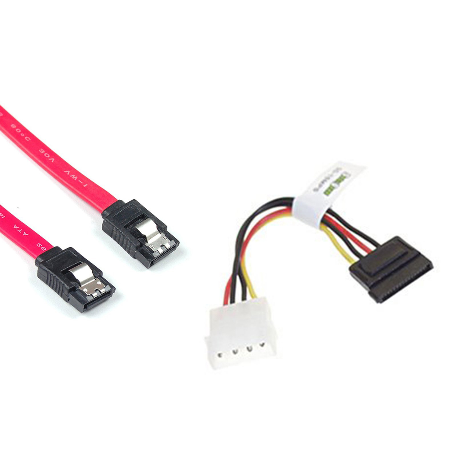 New Hot 2 Sata Power Adapter Cable And Data A211 Signal Molex One Combo To Connect Aeproductgetsubject