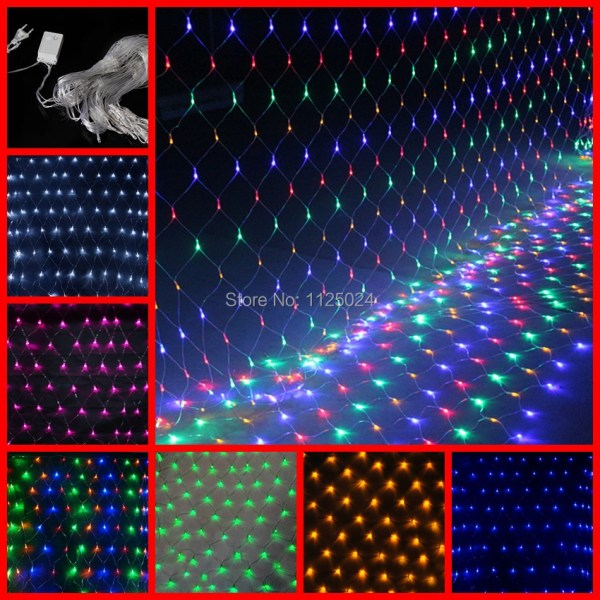 220v 4 6 750 Led 8 Flash Modes Super Bright Net String Light Christmas Lights Year