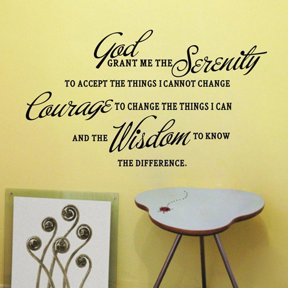 ④TFBC GOD GRANT ME THE SERENITY PRAYER BIBLE Art Quote Vinyl Wall ...