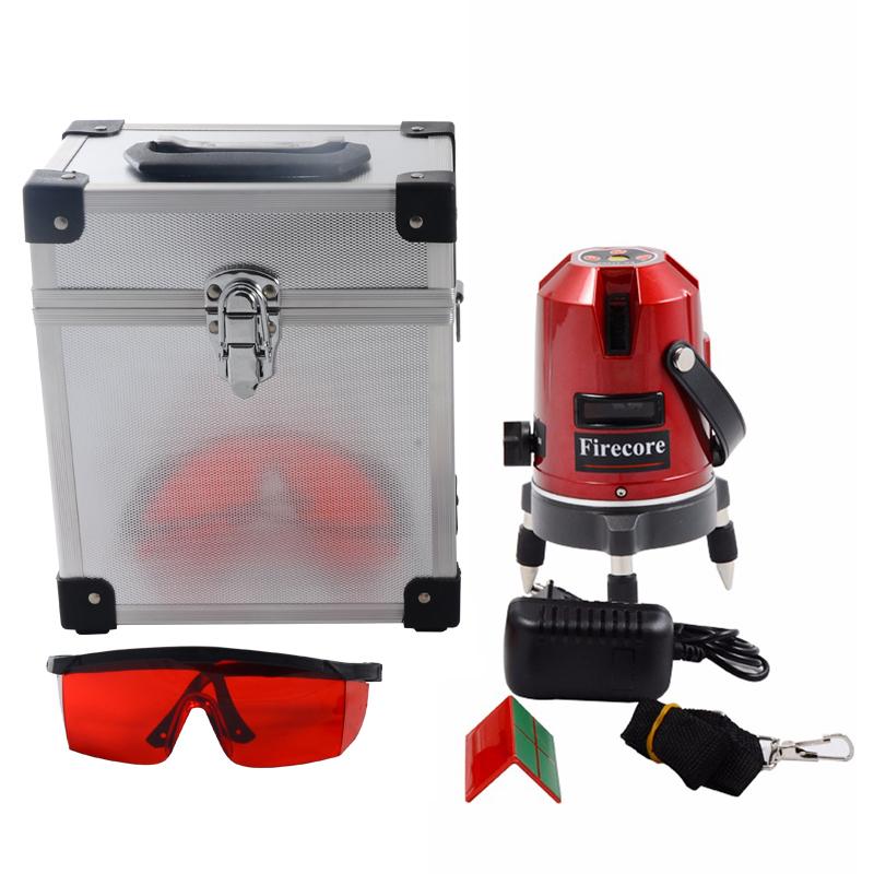 dc19206a3b04e Firecore EK452DP 5 360 Linhas de Nível A Laser Rotativo Horizontal e  Vertical Linha Cruz Laser Vermelho Feixe AC110-240V