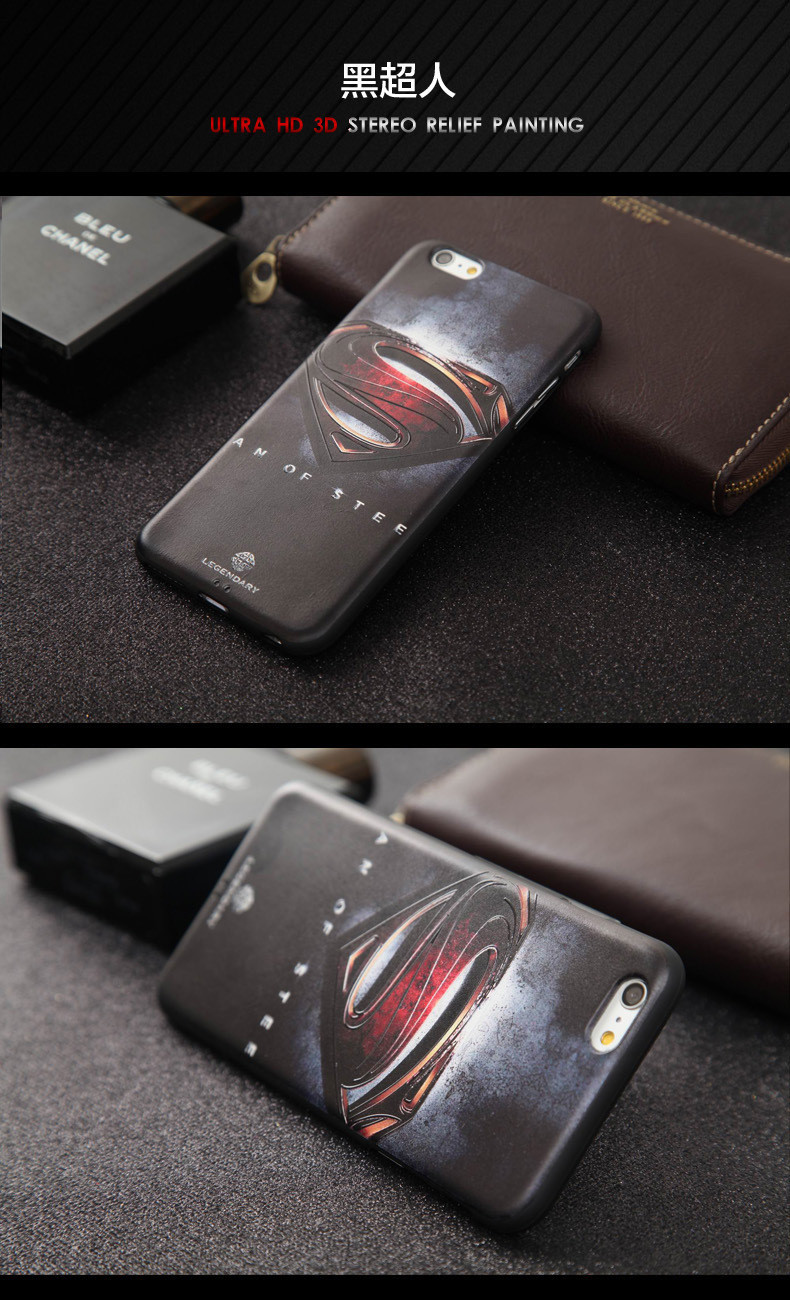 קפטן אמריקה Coque עבור iPhone 6 בתוספת סיליקון רך 3D סטריאו הקלה ציור טלפון המקרים מכסה מגן לאייפון 6 פלוס