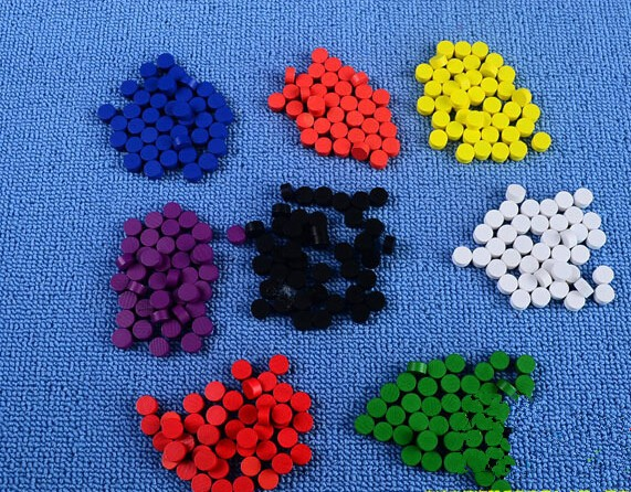 Jeux accessoires meeples-en bois meeples violet 16mm x 10