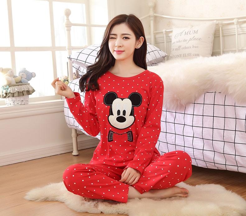 Φ Φ2016 nuevas mujeres lindo dibujos animados Mickey pijama dormir ... 11027bfe5073