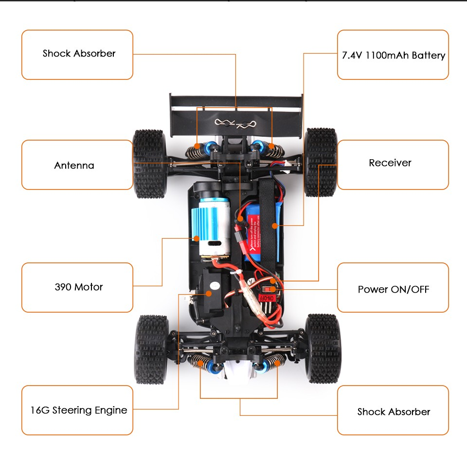 Wltoys A959 24g Electric Rc Cars 50km H 4wd Shaft Drive Trucks Wltoy Pcb Box Receiver Main Board Circuit Spare Parts For High Speed Radio Control Monster Trucksuper Power Ready Toys