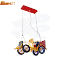 Living Room Restaurant Study Bedroom LED Personalized Cartoon Retro Vintage Car Children Chandeliers Hanging Hanging Glass