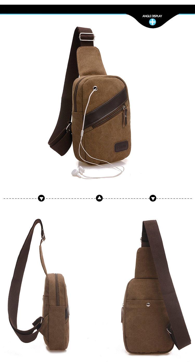 Hommes militaire de poitrine Cycle Sling Pack Sacoche Sac bandoulière petit jour packs sac à main