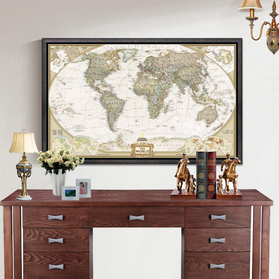 newest vintage world map home decoration detailed antique photos list gumiabroncs Image collections