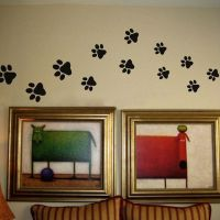 Paw Print Wall Stickers 20 Walking Paw Prints Wall Decal ...