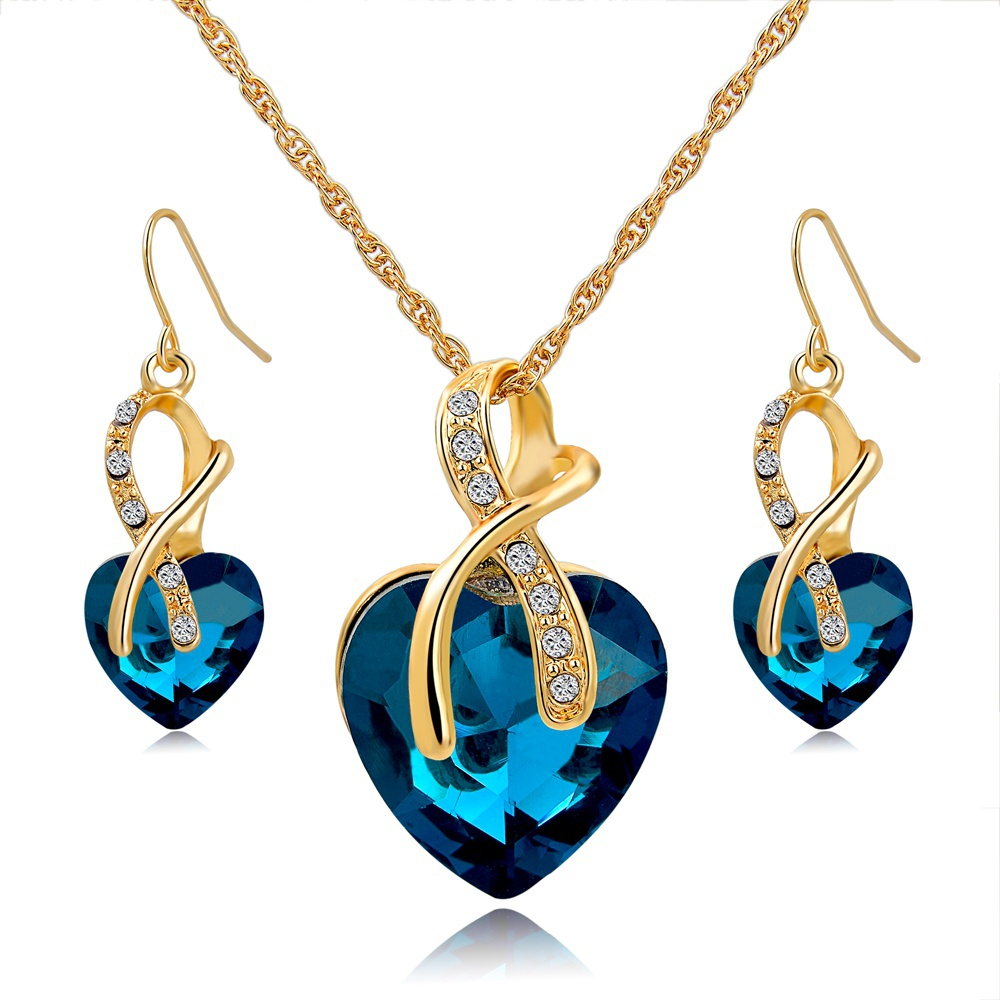 Aliexpress.com : Buy Gift! Gold Plated Jewelry Sets For