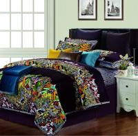 Egyptian cotton silk satin colorful comforter bedding set ...