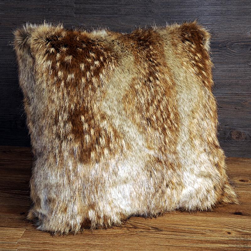 faux fur throw pillows  Home Decor