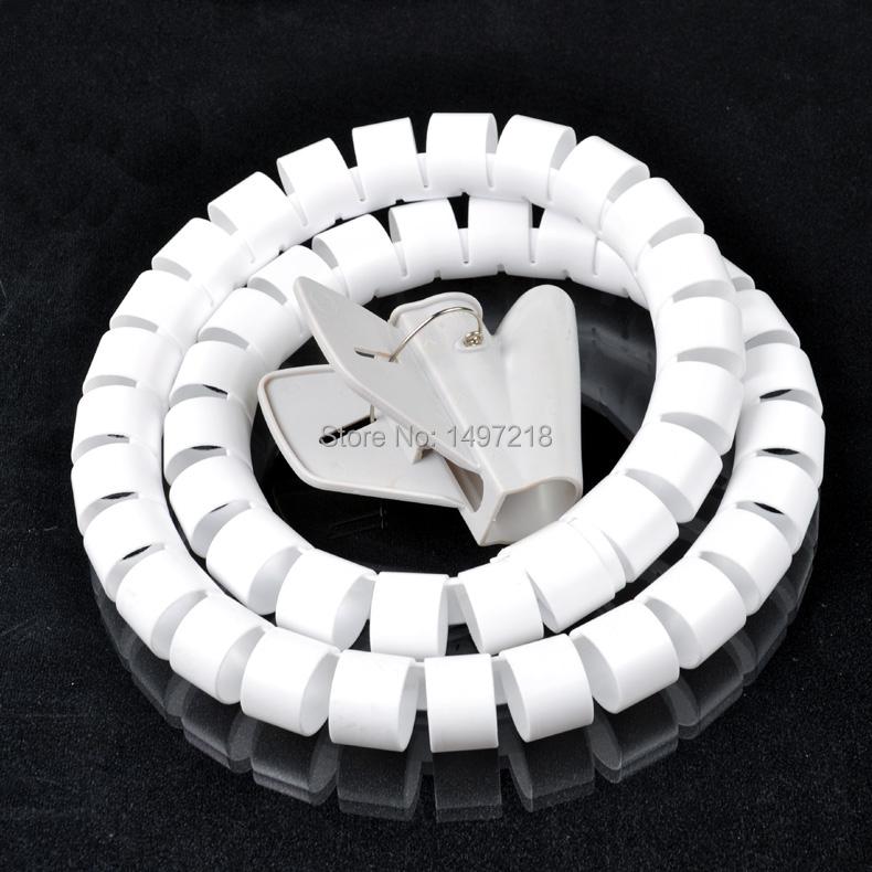 ▽Envío libre 40mm * 2 m cable espiral Alambres WRAP ordenador tube ...