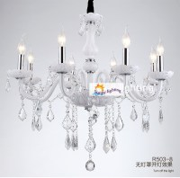 creative led chandelier lamps White crystal chandeliers 6 ...