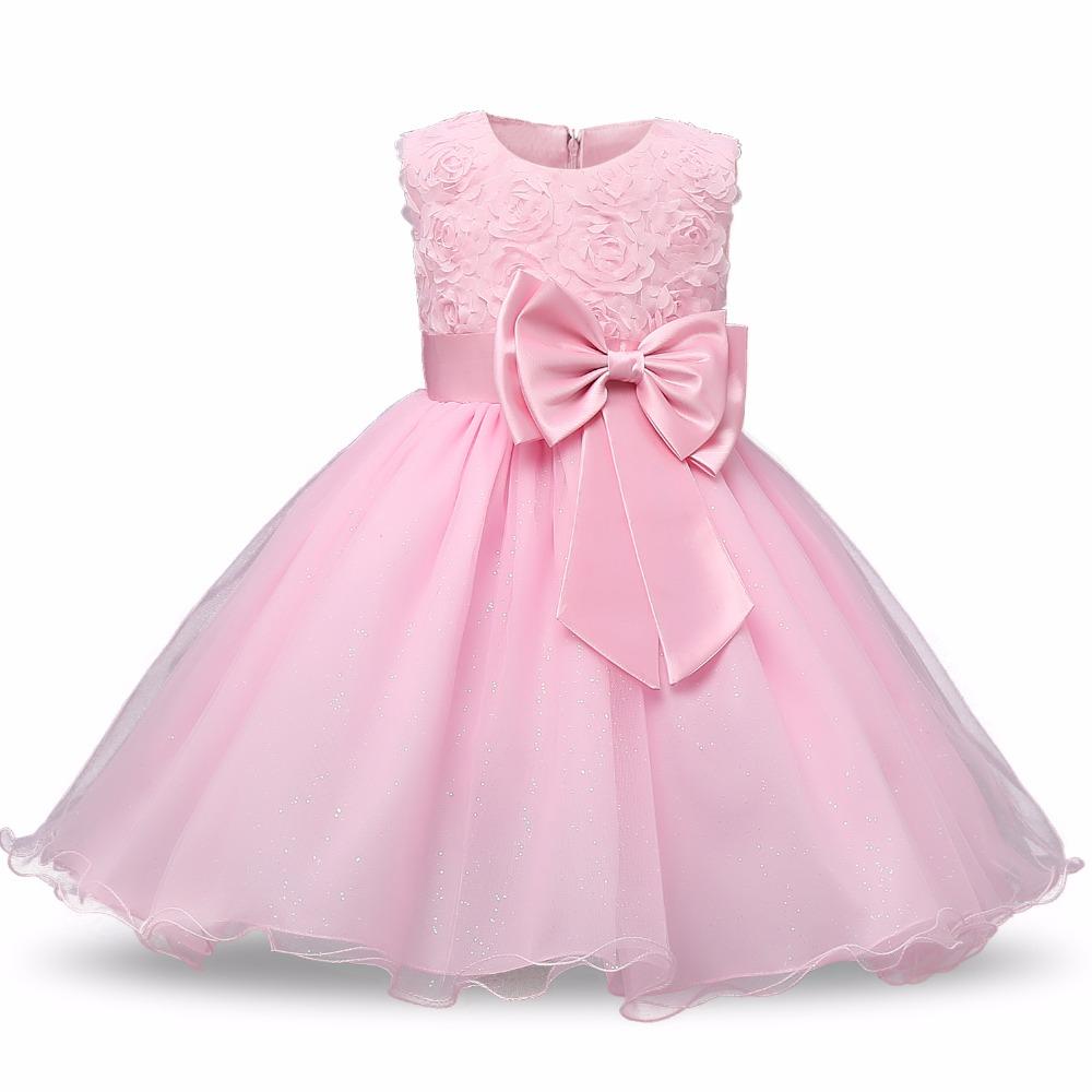 Princesa flor Niñas vestido Tutu bebé boda 1 años cumpleaños ...