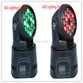 2pcs lot 2016 HOT 18x3w RGB CREE LED mini Moving Head Light Moving Head Wash Light
