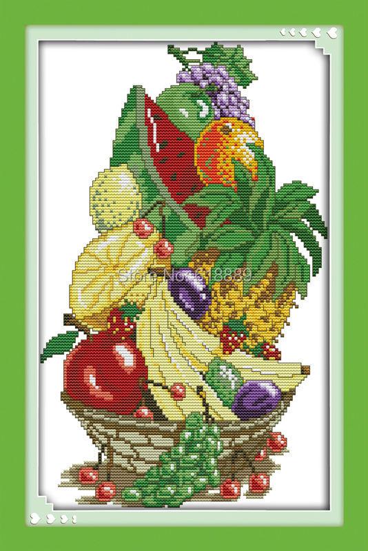 ᐃVerano fruta Pegatinas para uñas contó la puntada cruzada 11ct ...