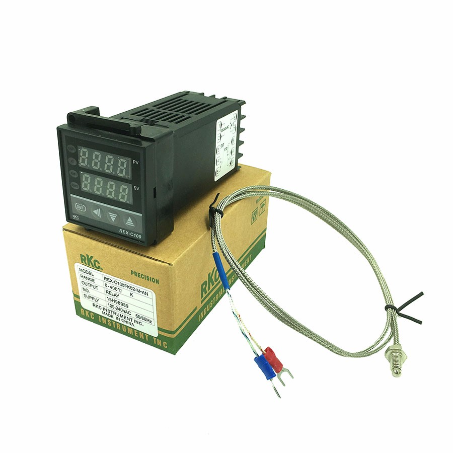 Rex C100 Digital Pid Temperature Control Controller Thermostat Complete Package Thermocouple Probe Ssr Relay Output 0 To 400c With K Type Sensor