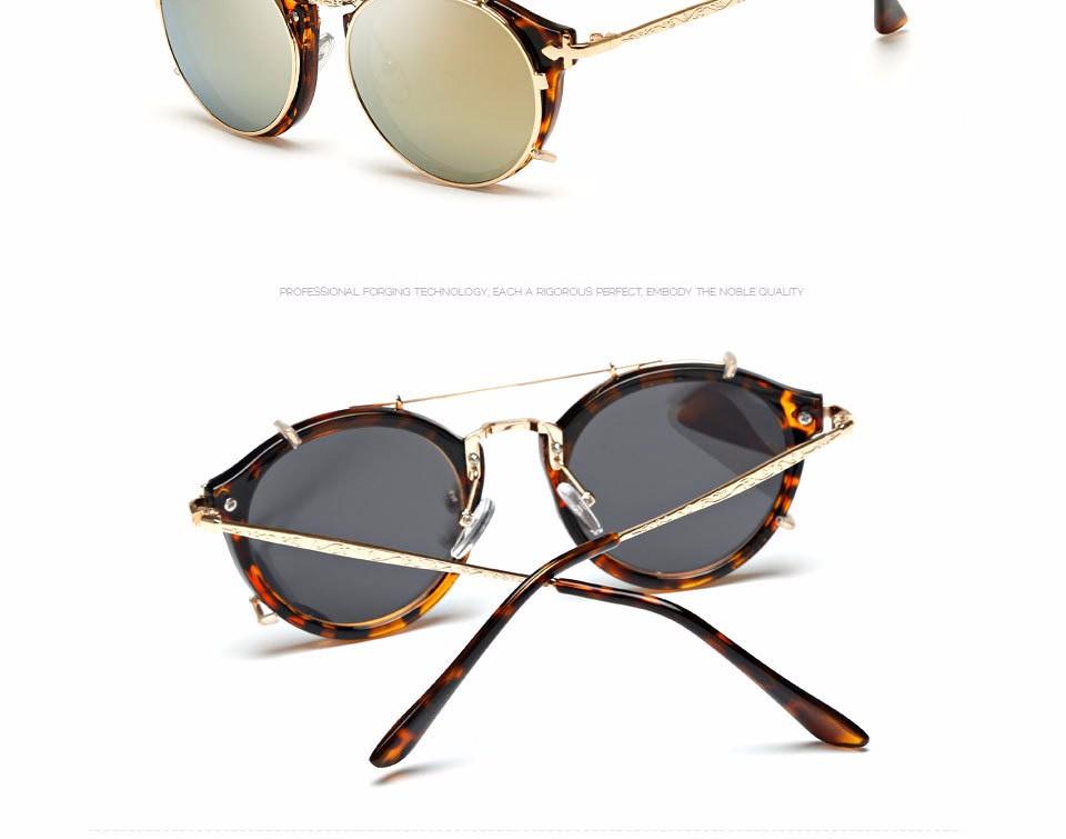 61277006eec270 AOUBOU Marque Marron lunettes de Soleil Femmes Vintage Rond Noir Parasol de Soleil  Lunettes Hommes Lunettes Oculos de sol feminino 6153USD 11.71 piece ...