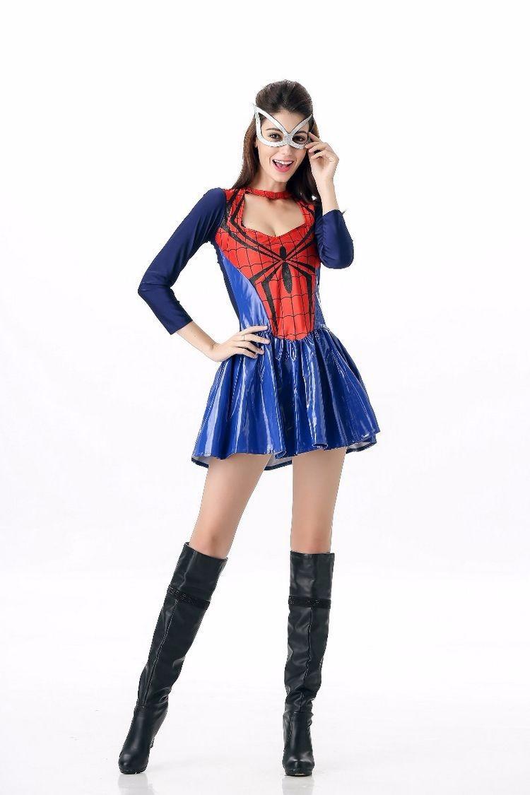 5d293e657b72 ٩( ‿ )۶Аниме Косплэй Человек-паук костюм платья костюмы на Хэллоуин ...