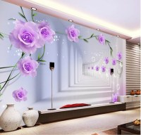 Elegant Photo Wallpaper Custom 3D Wall Murals Purple ...