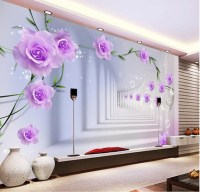 Elegant Photo Wallpaper Custom 3D Wall Murals Purple