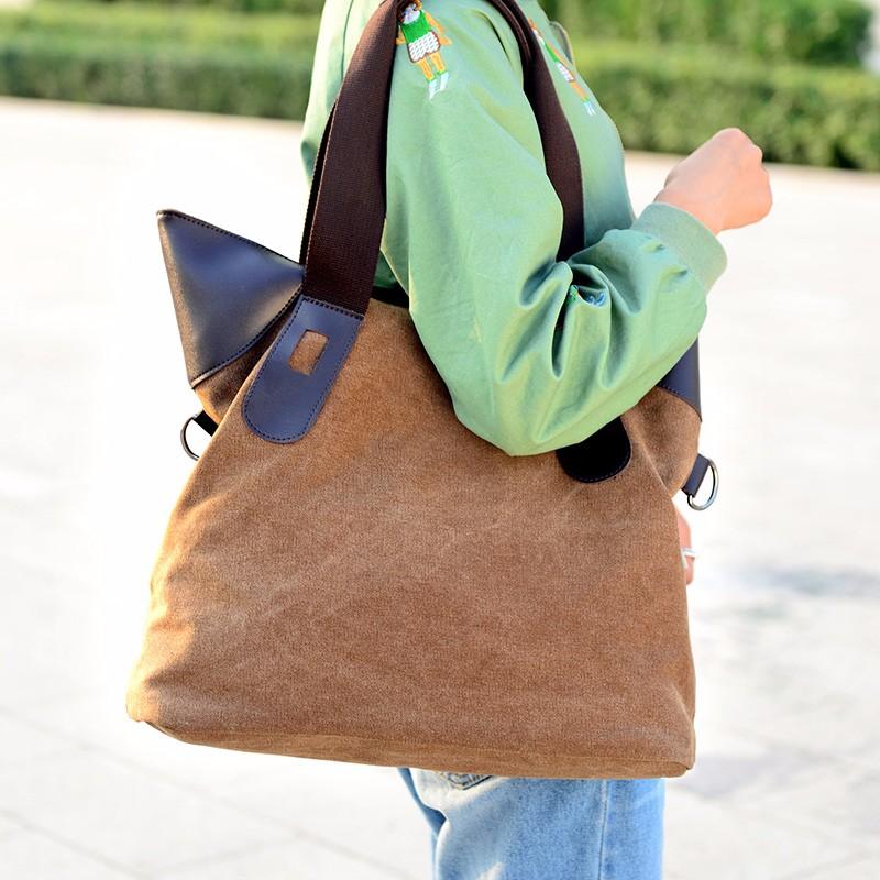 6542f3b6fac2 웃 유Kvky Винтаж Для женщин сумки холст сумка Сумки через плечо ...