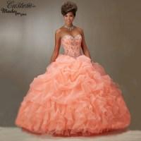 Vestidos De 15 Anos Ball Gown Sweetheart Ruffle Organza ...