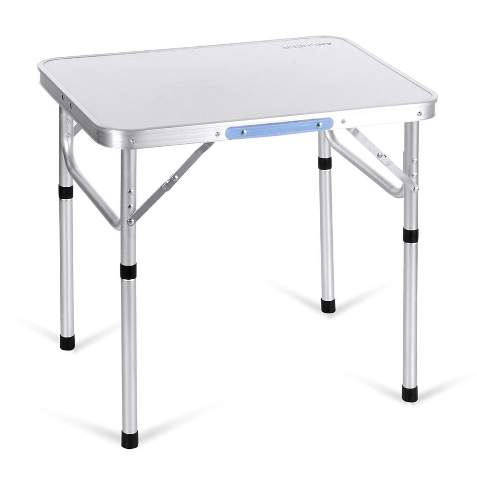 ANCHEER Portable Folding Table Outdoor Camping Aluminum