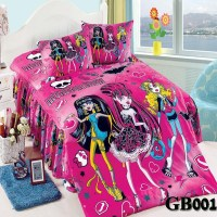 HOT Selling Monster high Purple oil Pink printing Twin ...