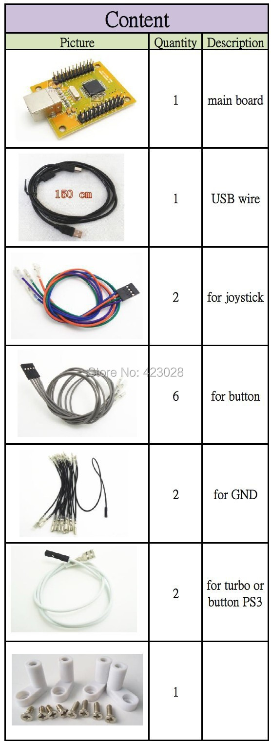 2 Player Mame Arcade Usb Kit Pc Ps3 In 1 Encoder To Jamma Board Wiring Diagram Ple Check The Details Of Ps 3 Two Controller Here