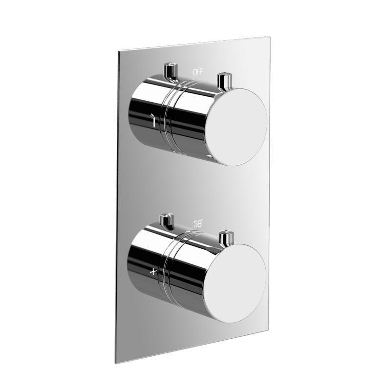∞Bathroom High Flow Thermostatic Shower Mixer Valve - Round 2 Way ...