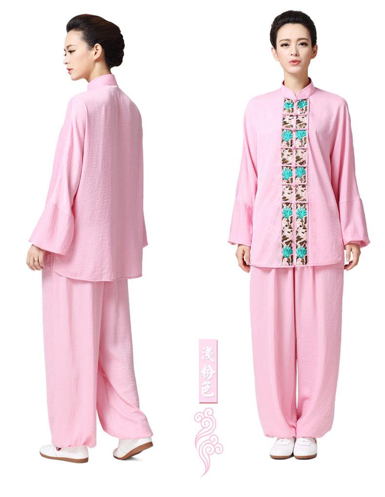 Tai Chi uniforme Taiji rendimiento ropa femenina hecha a mano wushu ...