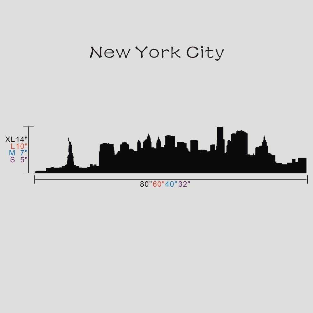 ᐂLa Gran Manzana Sticker Decal Nueva York Skyline Destino de ...
