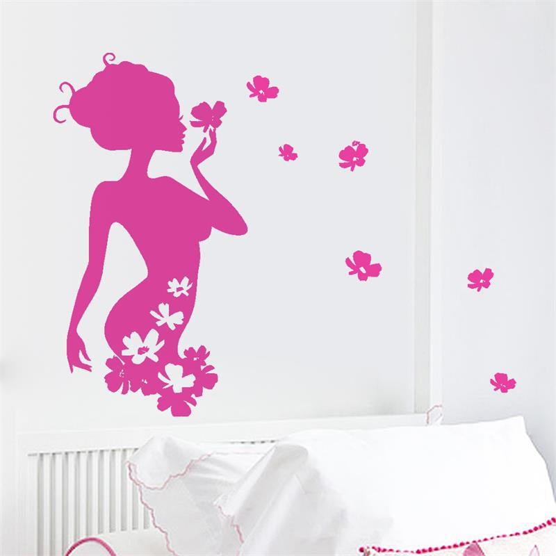 Flower Fairy Wall Sticker For Girls Rooms 8395 Decorative