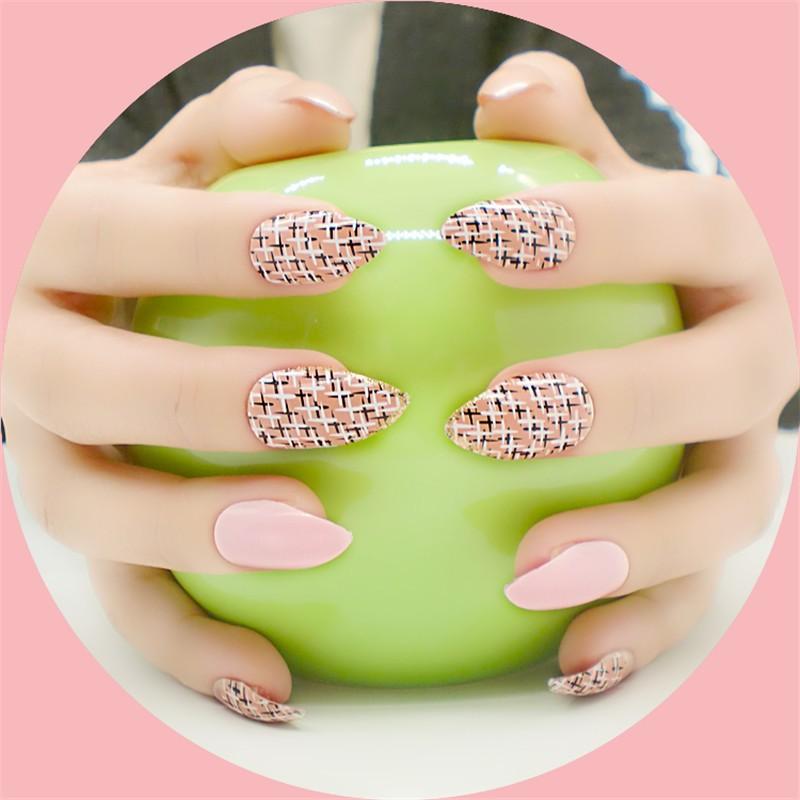 24psc Nueva Fake Nail Art Puntas de Cada Paquete de Diseño de ...