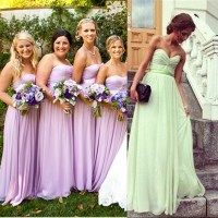 Bridesmaid Dresses Available In Lilac Or Purple - Flower ...