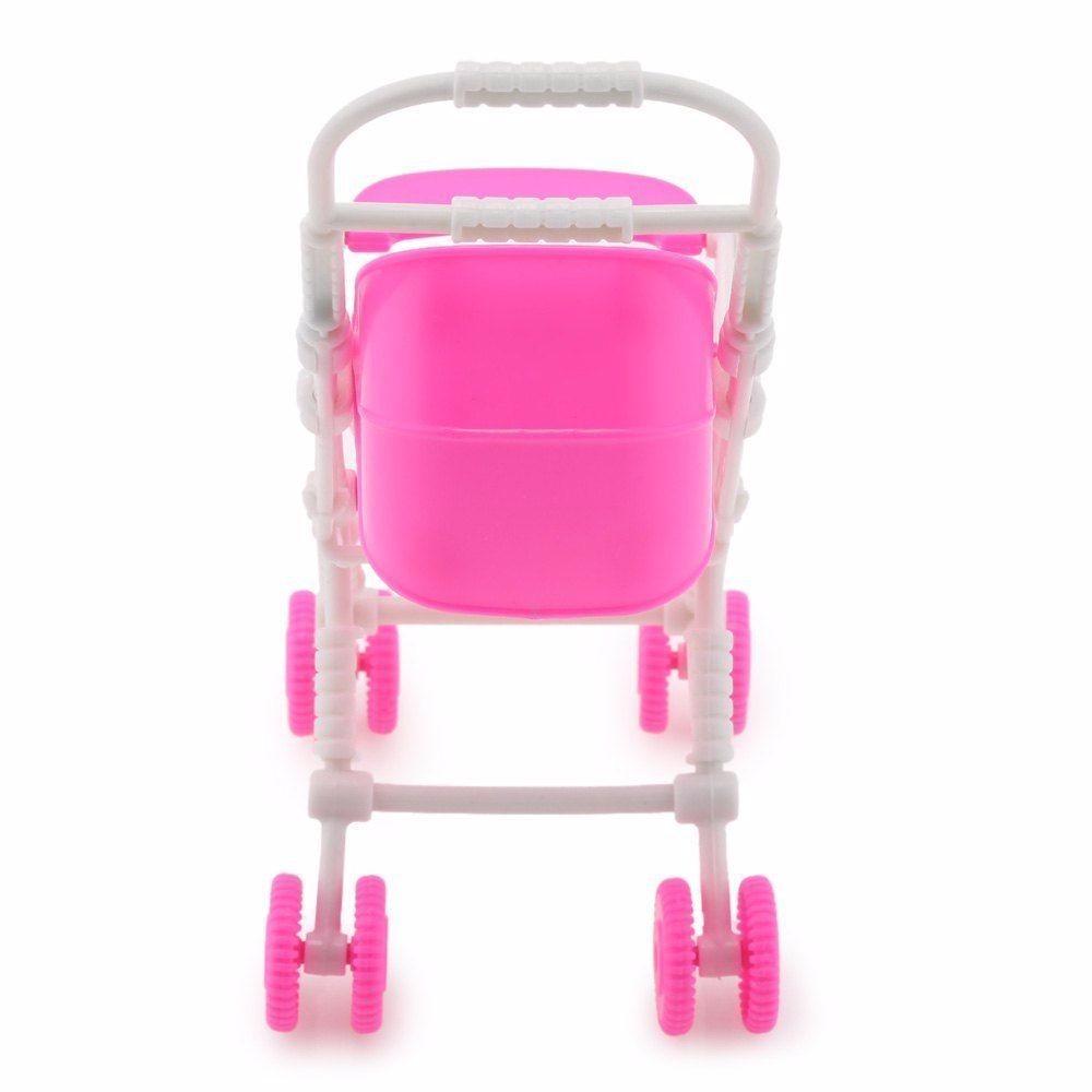 ᗑ】Plástico lindo bebé cochecito carro conjunto para guardería ...